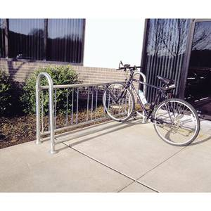 RACK, BIKE, 5 BIKES 1 WAY ENTRY, METAL