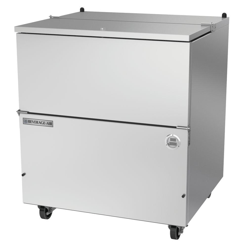 "COOLER, MILK, SINGLE, COLD WALL, 34.5""L, SS"