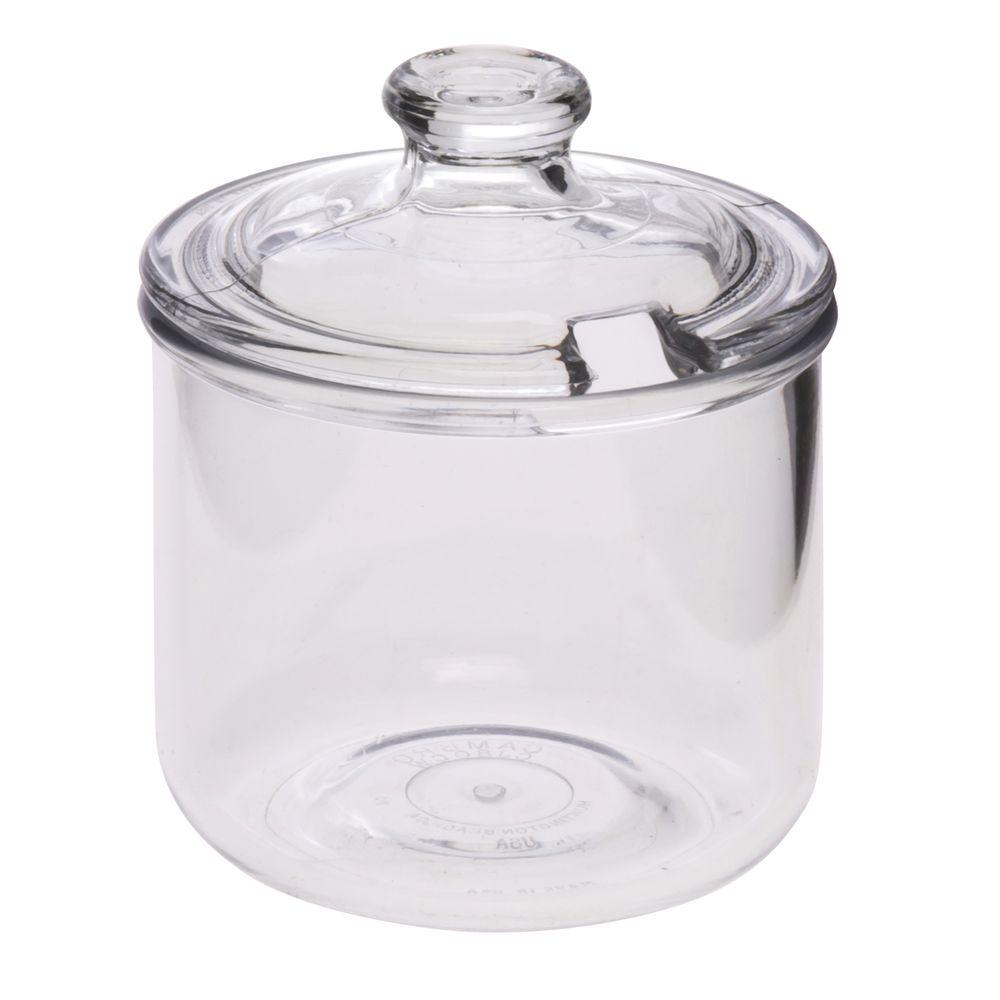 JAR, CONDIMENT, W/LID, CLEAR POLYCARBONATE