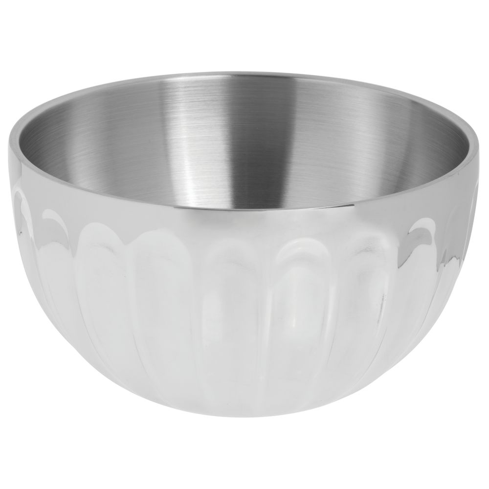 BOWL, FLUTED ROUND DBLE WALL, 3.4QT