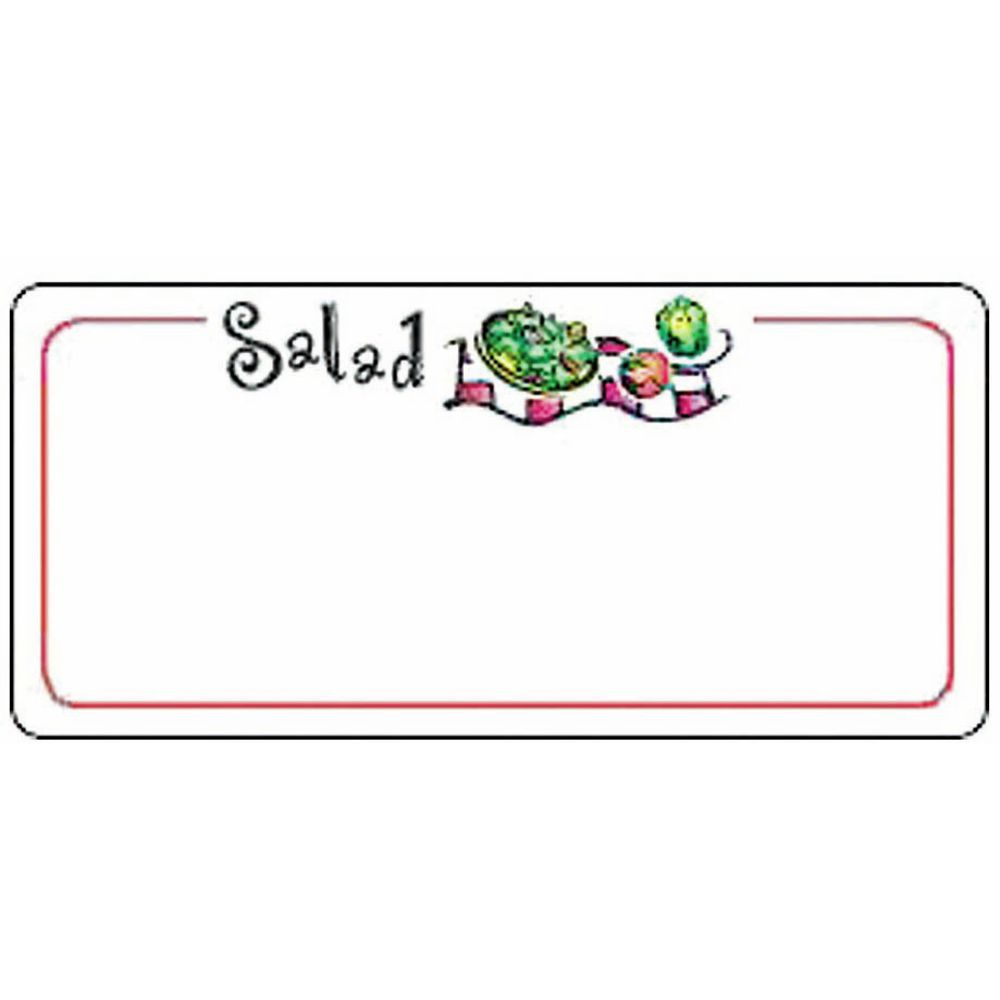 LABEL, LASER, SALAD W/PLATE, 780 LABELS