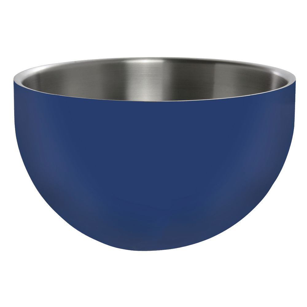 BOWL, DW, BLUE, ROUND, 9.5X5.25, STAINLESS