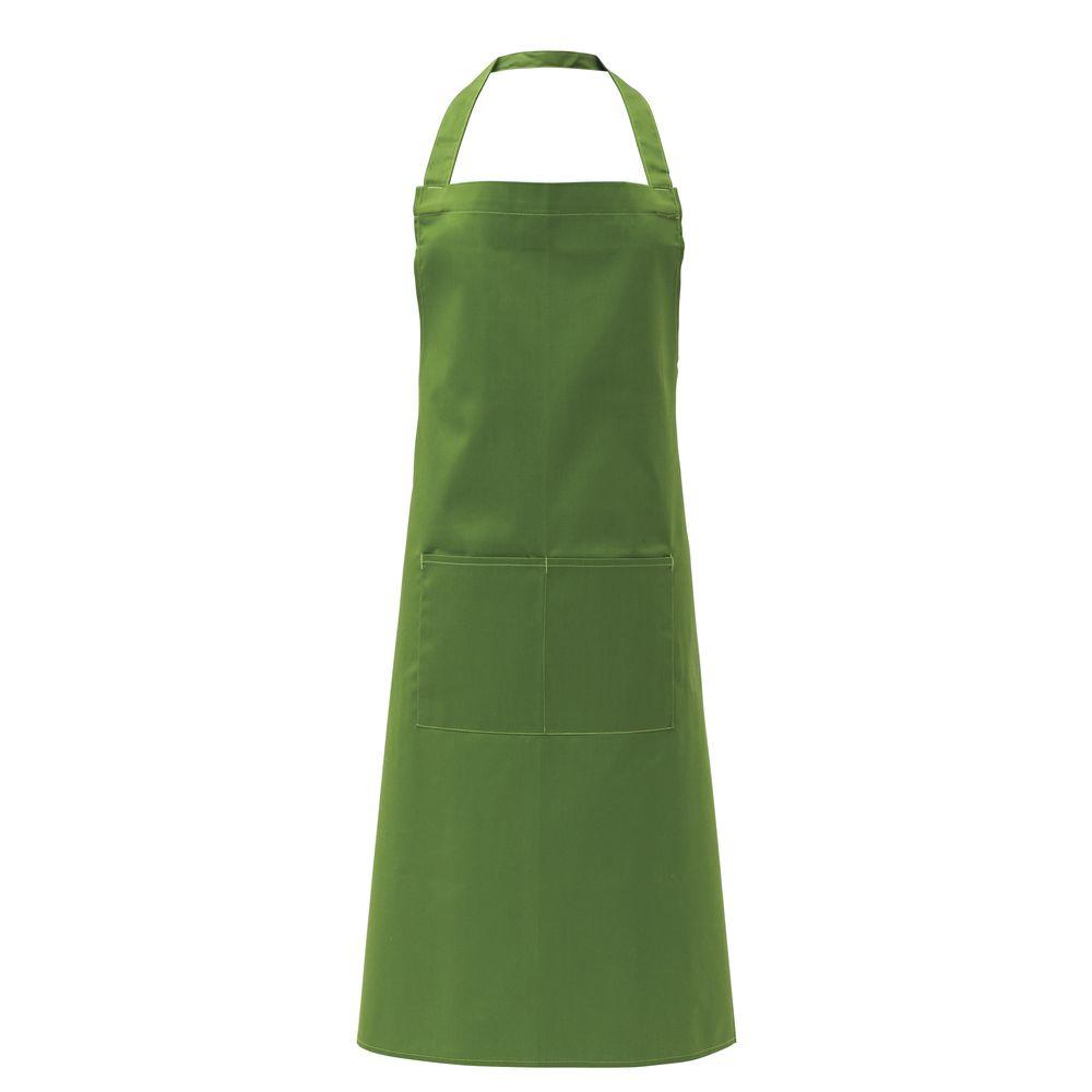 Hubert® Restaurant Aprons with Pockets Bib Green