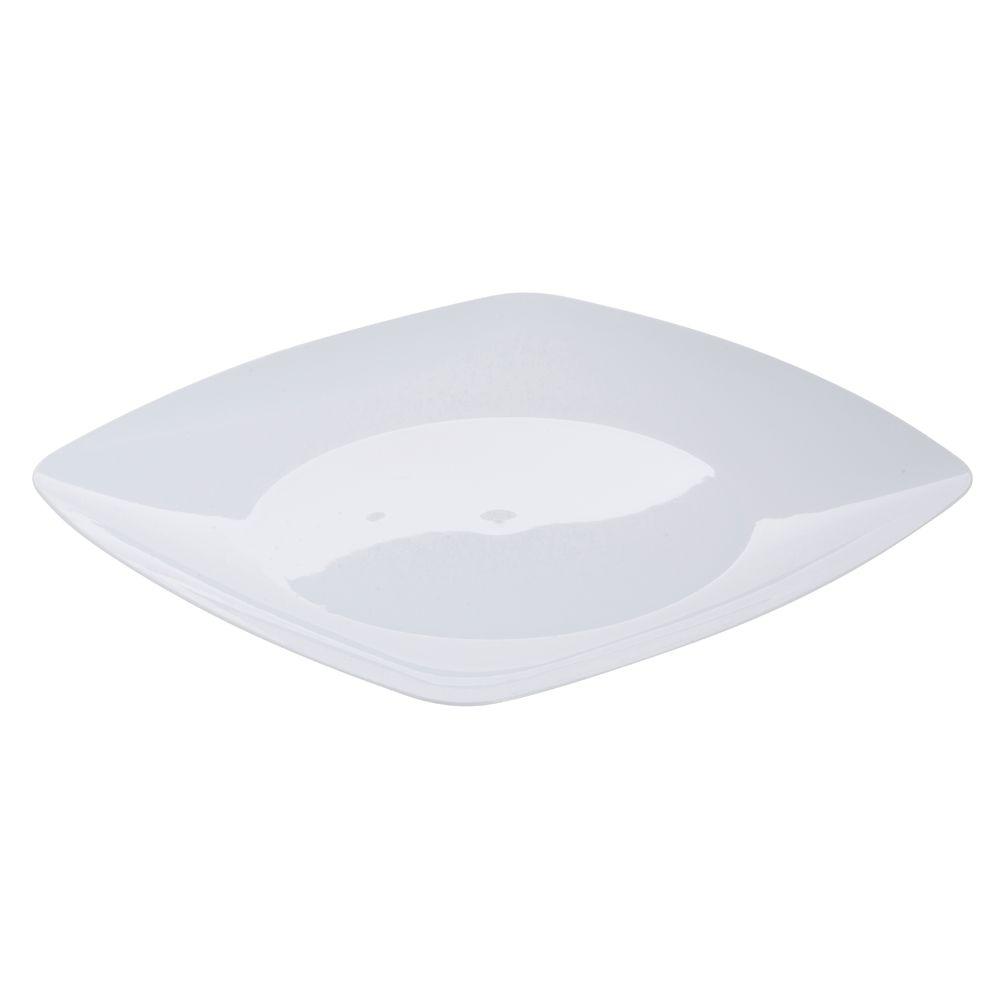 Fineline Settings Renaissance Square White Plastic Disposable Plate ...