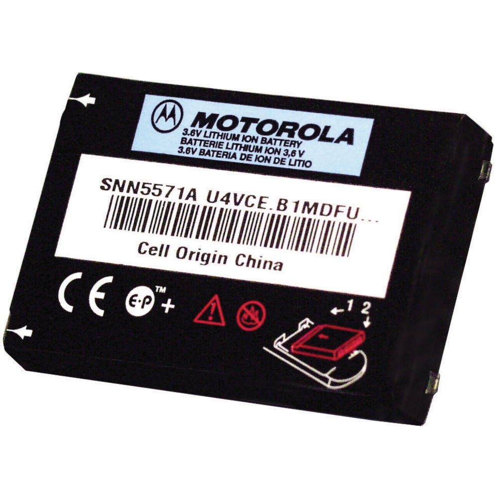 Motorola CLS Rechargeable Lithium Ion Battery in Black Metal
