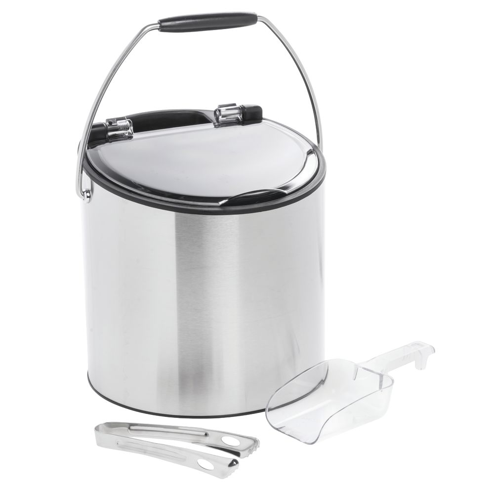 BUCKET, ICE, 3.0L, STAINLESS, TONG +SCOOP