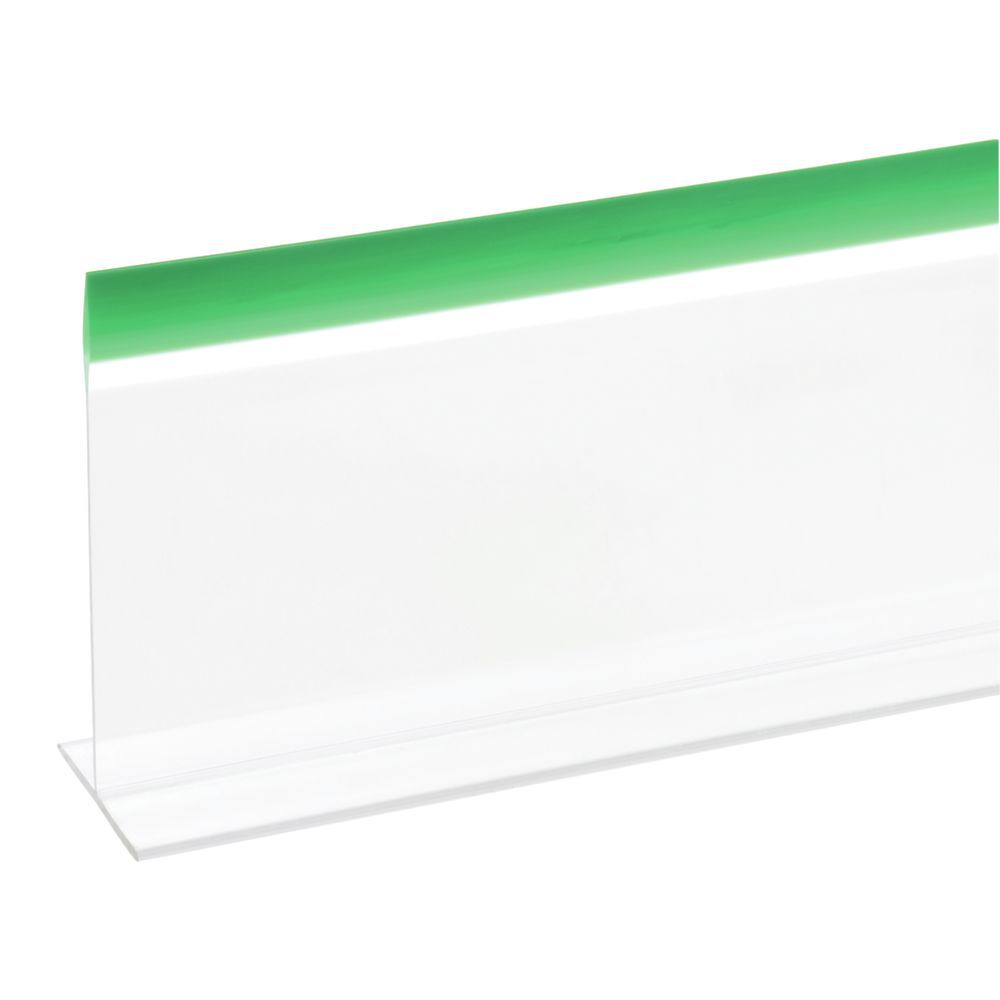 DIVIDER, CLEAR W/GRN 5X30