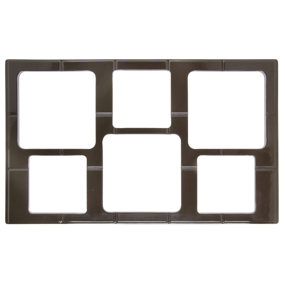 TILE, FULL SZ, W/6 CUT OUTS, BROWN, MELAMINE