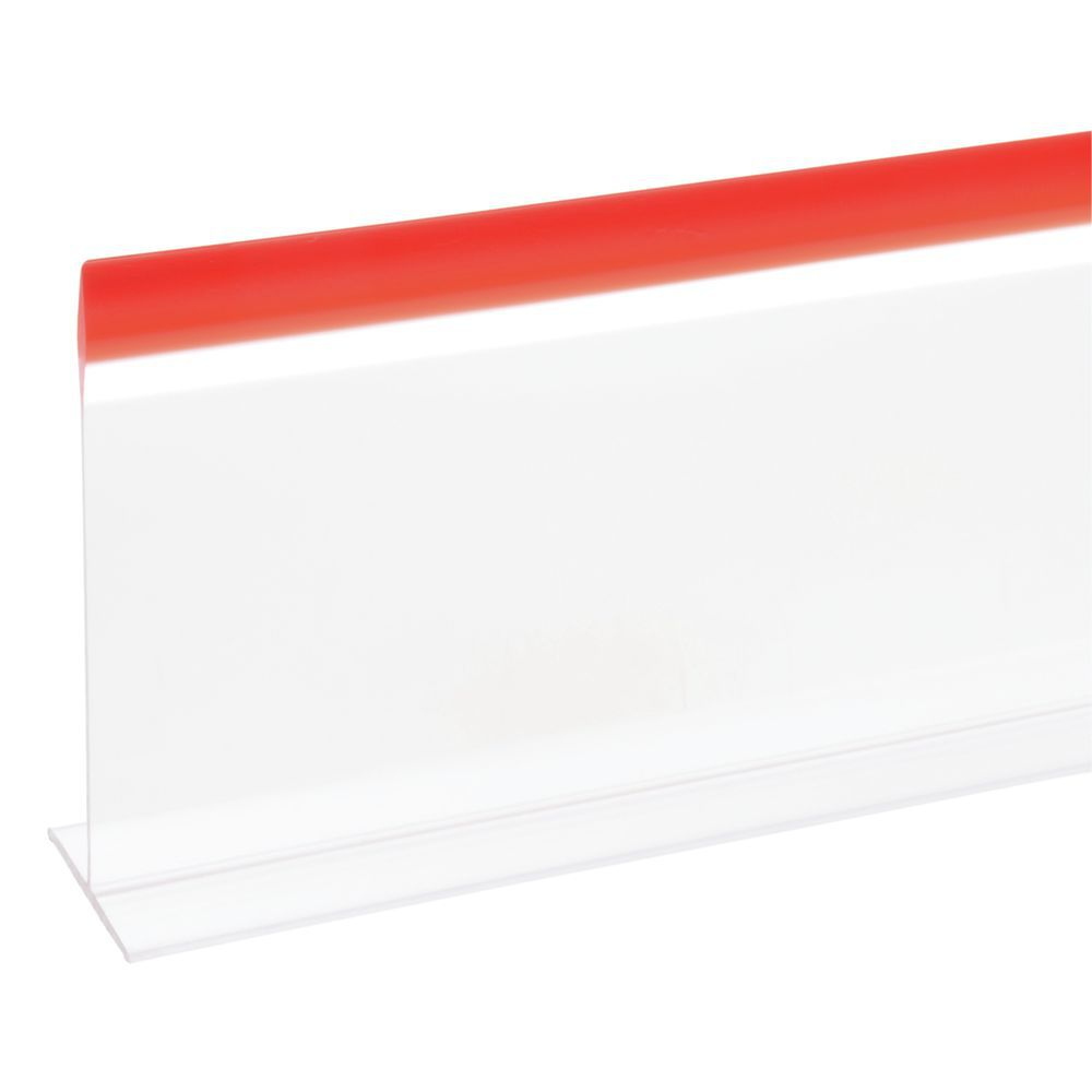 """DIVIDER, CLEAR W/RED TRIM 5X30"""""""