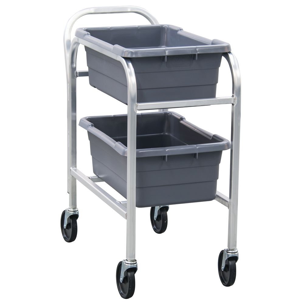 """NewAge Rolling Cart 2 Lug 33""""L x 16 3/4""""W x 36 1/2""""H Aluminum With Handle"""