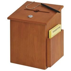 BOX, WOODEN SUGGESTION, MED OAK