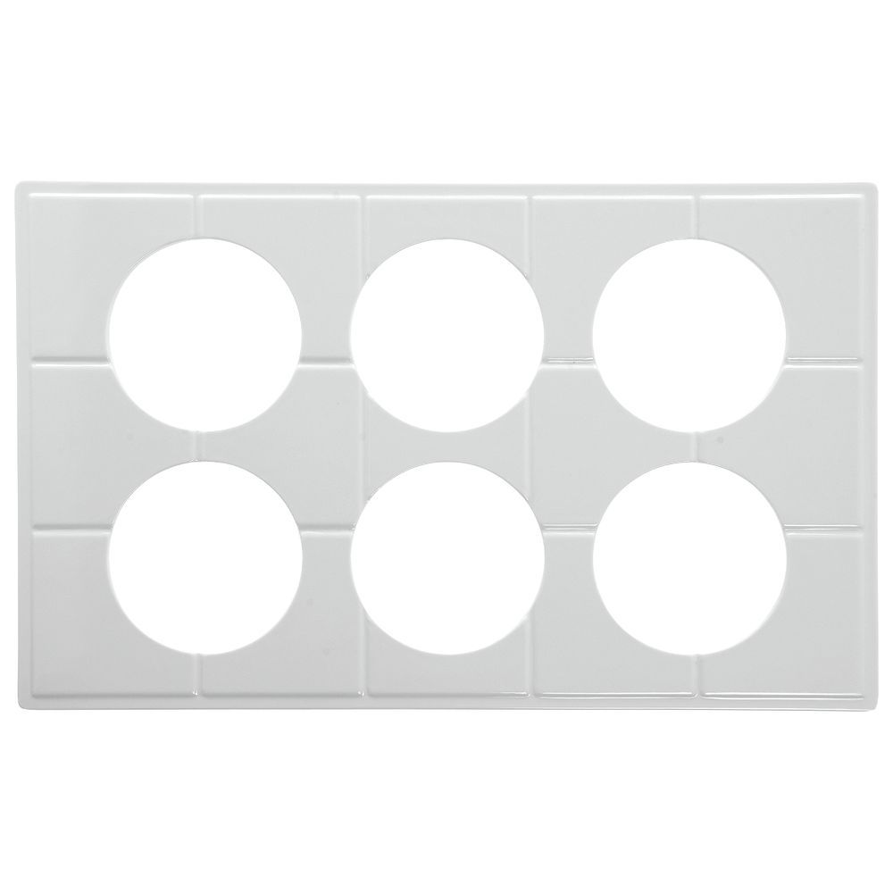 TILE TRAY, FS, WHITE, W/6 CUTS FOR #13752