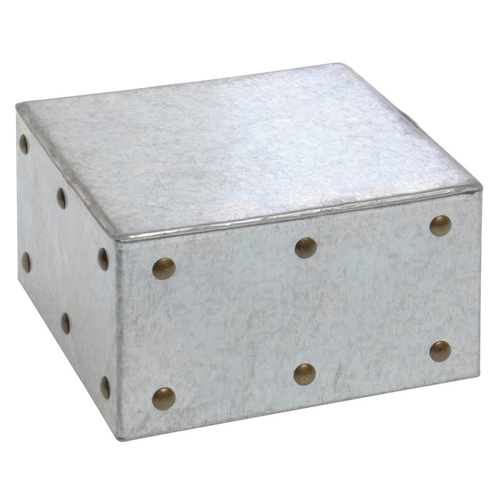 "BOX, 1/6 SIZE, 4-1/2""D, GALVANIZED CHIC"