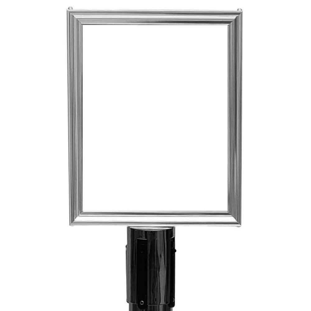 sign frm chrome 105wx13125h vertical - Metal Sign Frames
