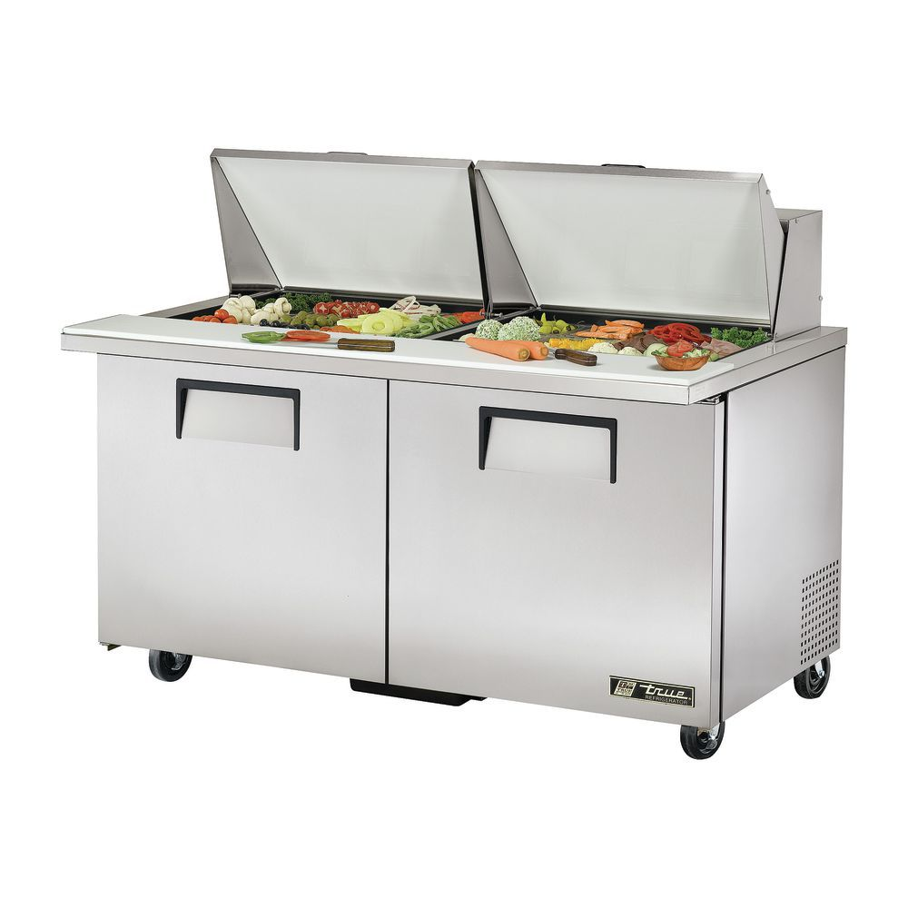 True Cu Ft Pan Door Food Prep Table MegaTop Sandwich - True food prep table