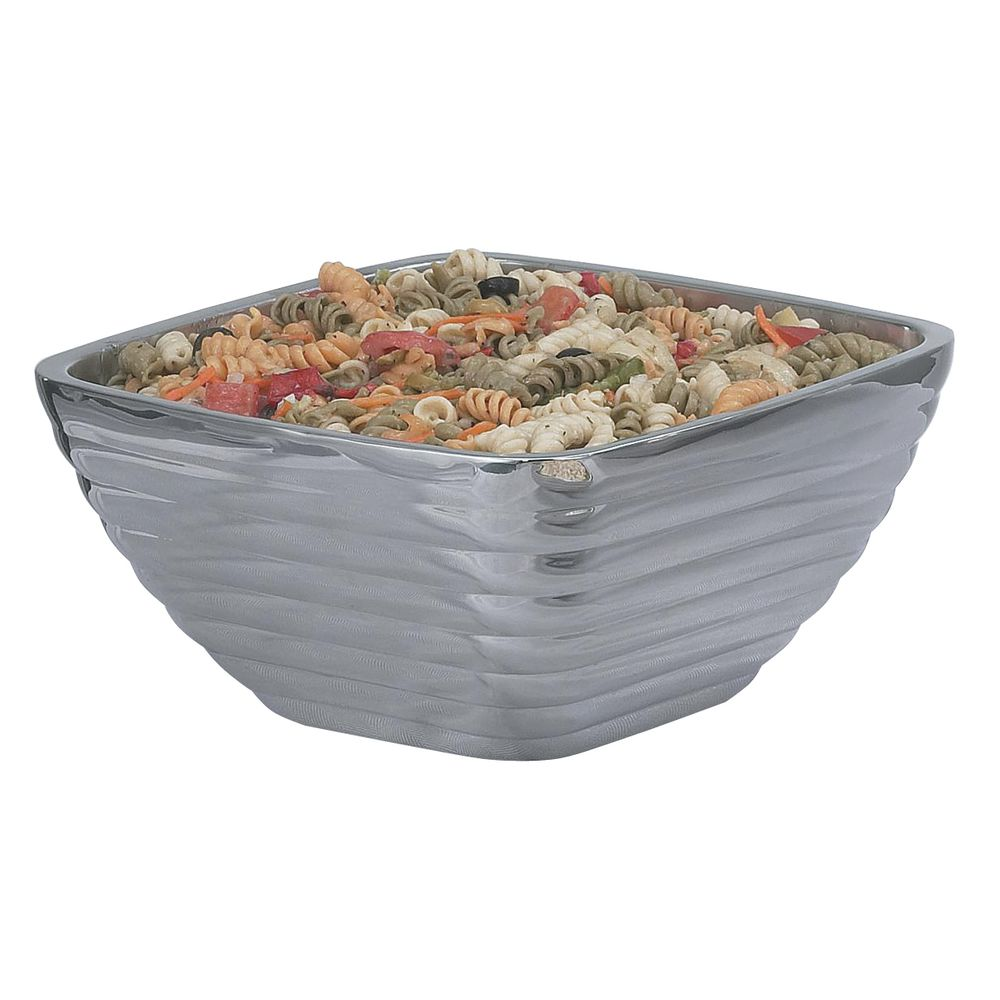 """Vollrath Beehive Square Serving Bowl 5.2 qt Capacity Stainless Steel 10 3/16""""L  x 10 3/16""""W x 5 1/8""""H"""