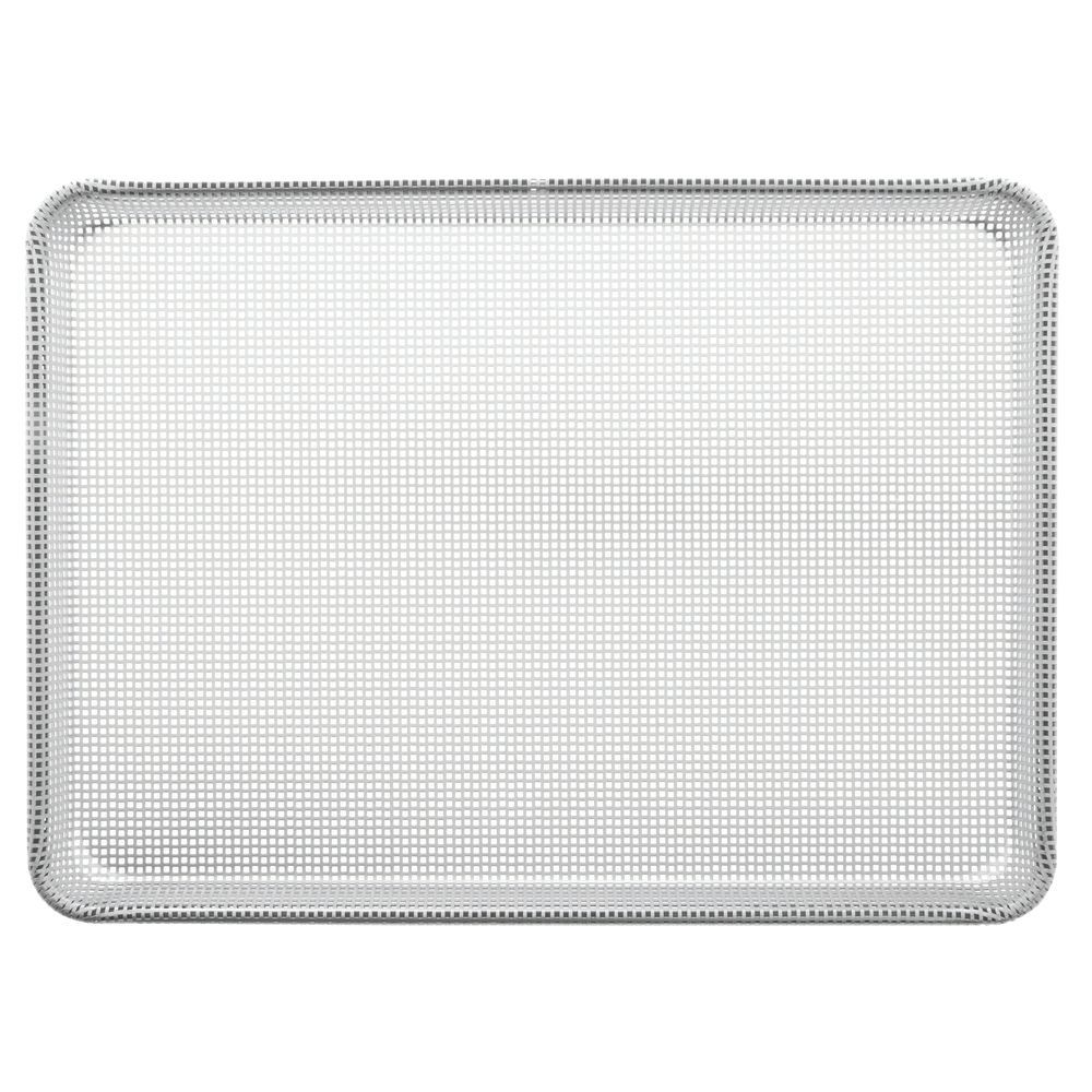 """Focus Foodservice Half Size Square-Perforated Silicone Glazed Baking Sheet 26""""L x 18""""W 16 Gauge Aluminum"""