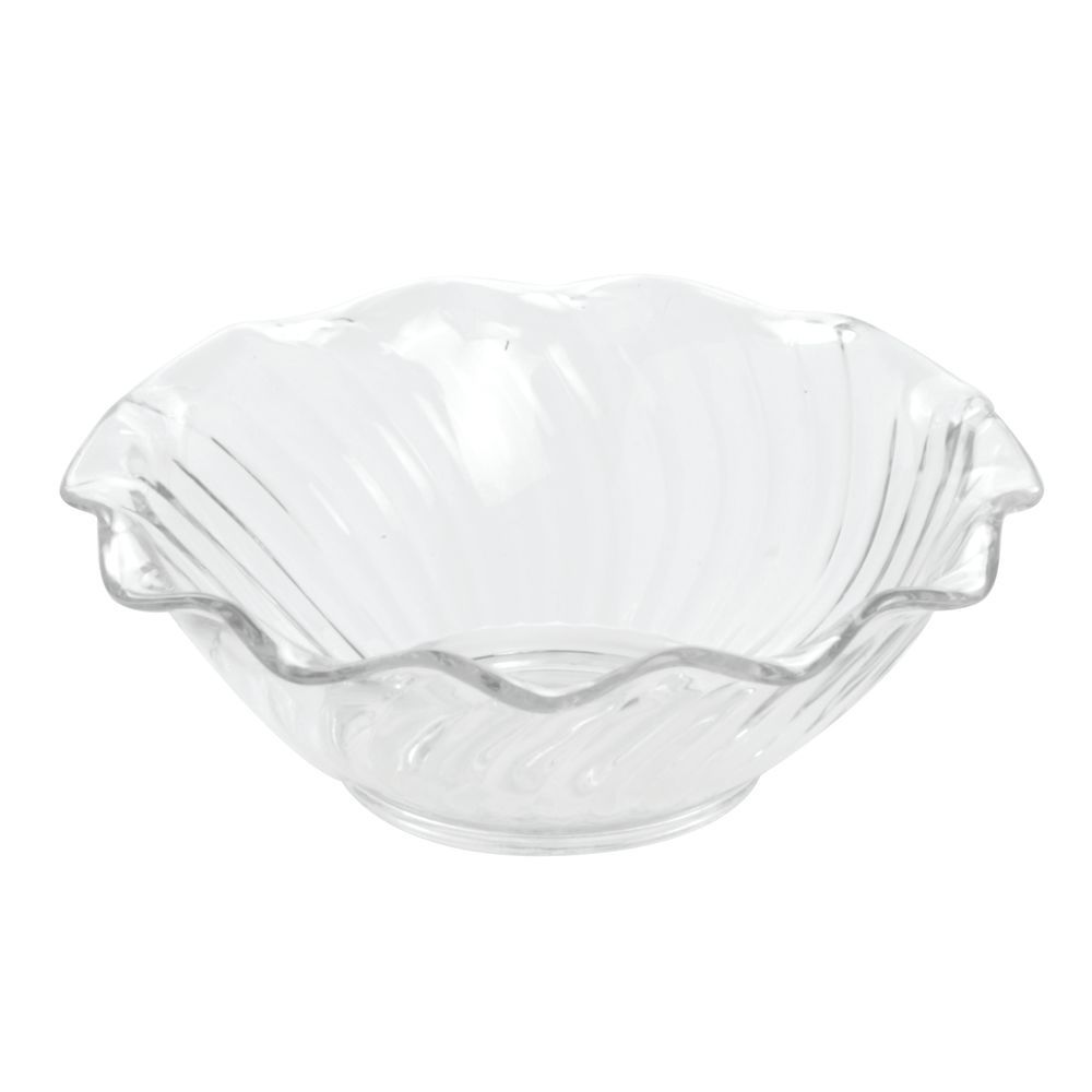 Carlisle 5 Oz Clear San Plastic Tulip Fruit Bowl