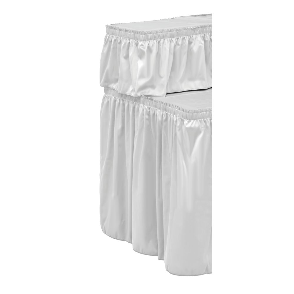 CO SKIRTING, WHT, TWILL, SHIRRED, FOR 45852