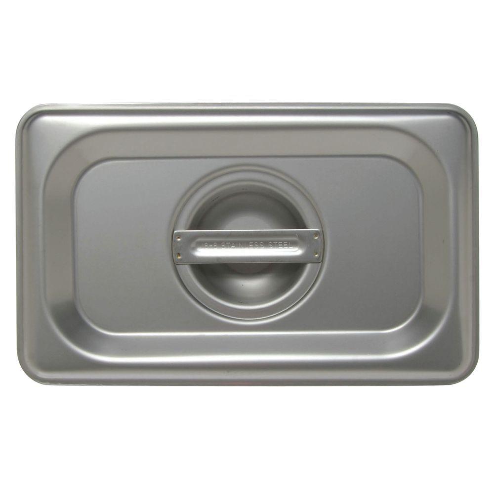 CVR, SOLID, 1/9 SZ STEAM TBL PAN, S/S, 24 GA
