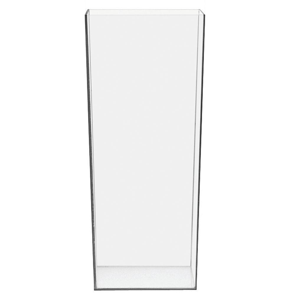 "Display Vase Square 5""sq x 12""H Clear PETG"