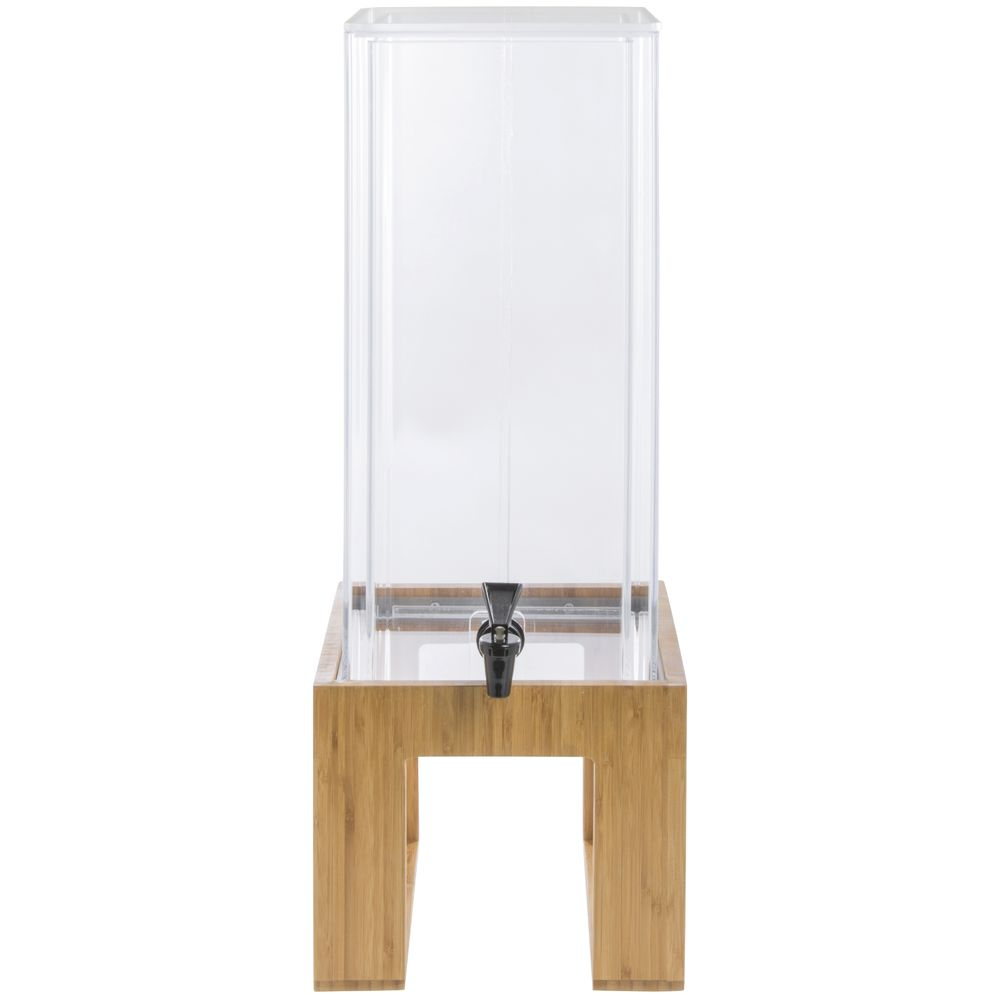 DISPENSER, BEV, DOUBLE WALL, BAMBOO, 3GAL