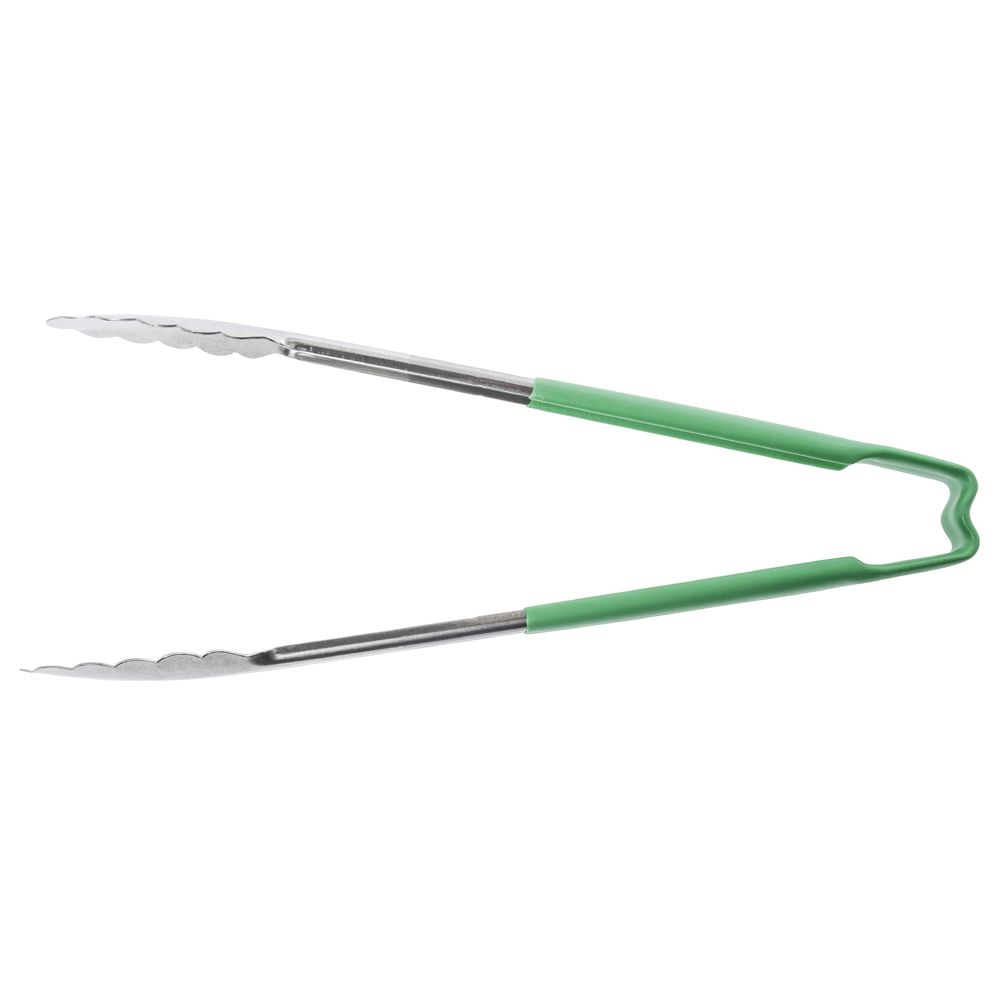 "Vollrath® Color-Coded Utility Tong Green 12""L"