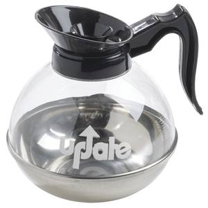 DECANTER, COFFEE, 64 OZ, BLACK W/SS