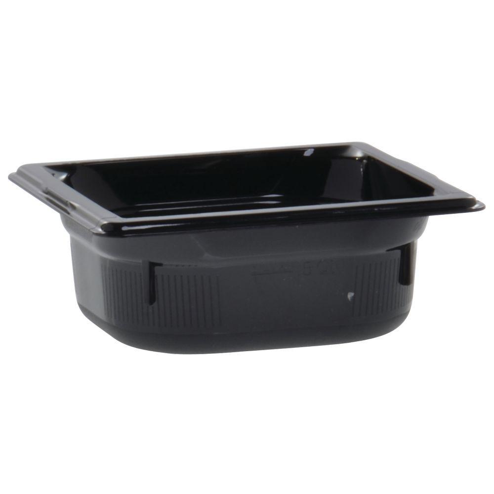 "Vollrath Super Pan Black Plastic Buffet Pan HighTemp 1/6 Size 2 1/2""D"