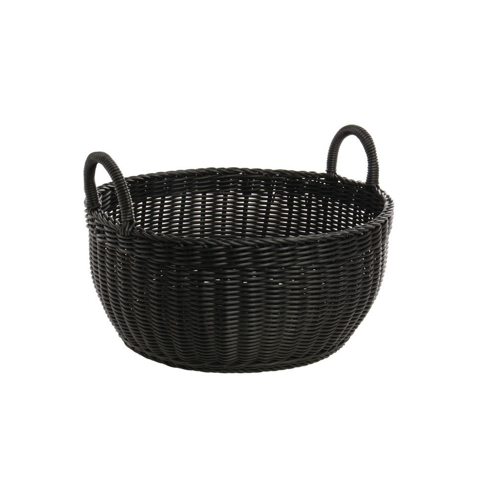 BASKET, ROUND, BLACK, 17DIAX8H