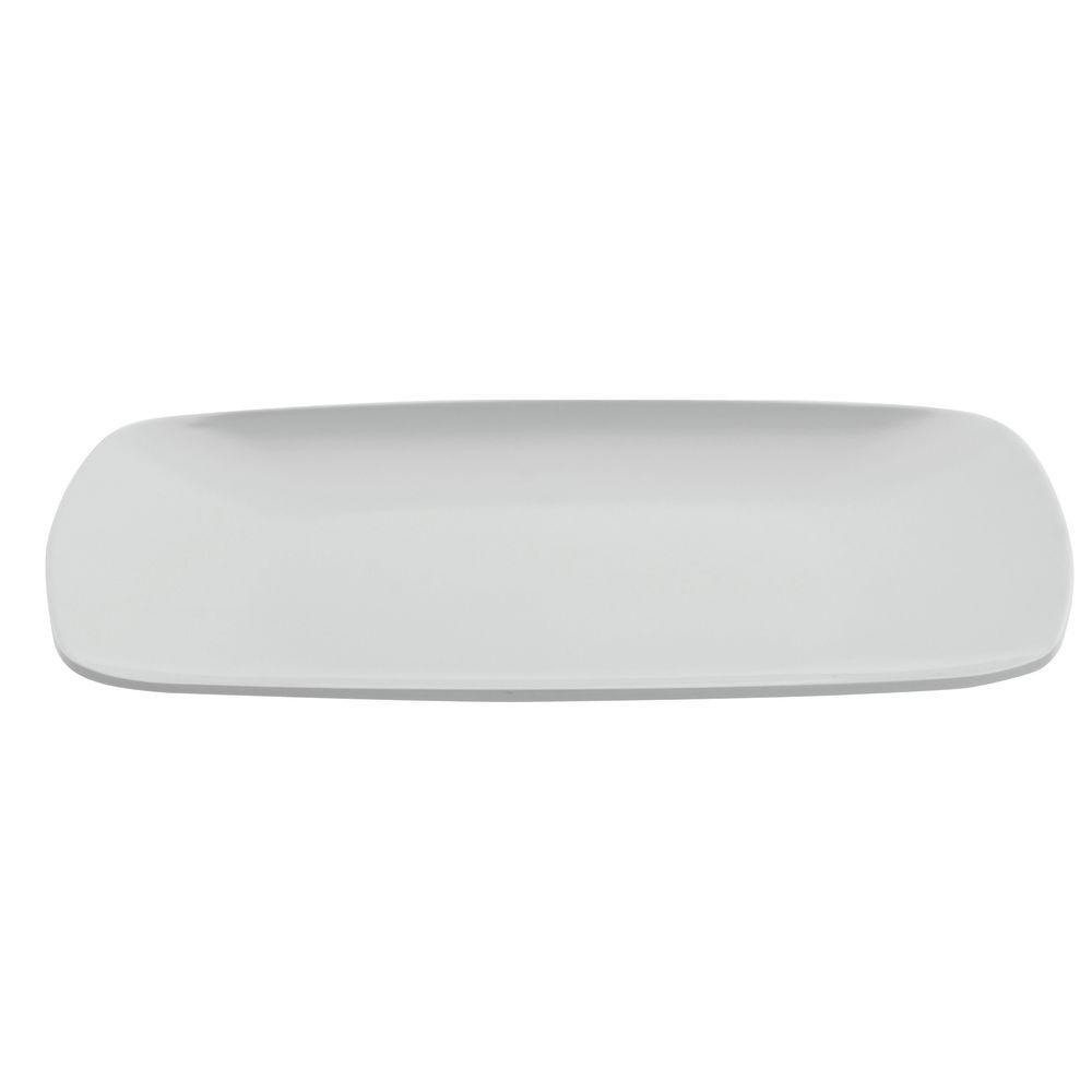 "Elite Square Melamine Plate White 11""L x 11""W x 3/4""H"