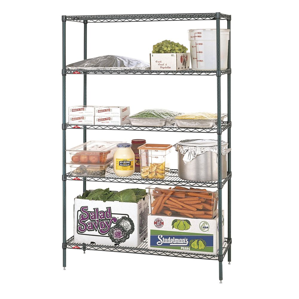 "Metro Super Erecta Metroseal 5 Shelf Metal Shelving Unit 48""L x 18""W x 74""H."