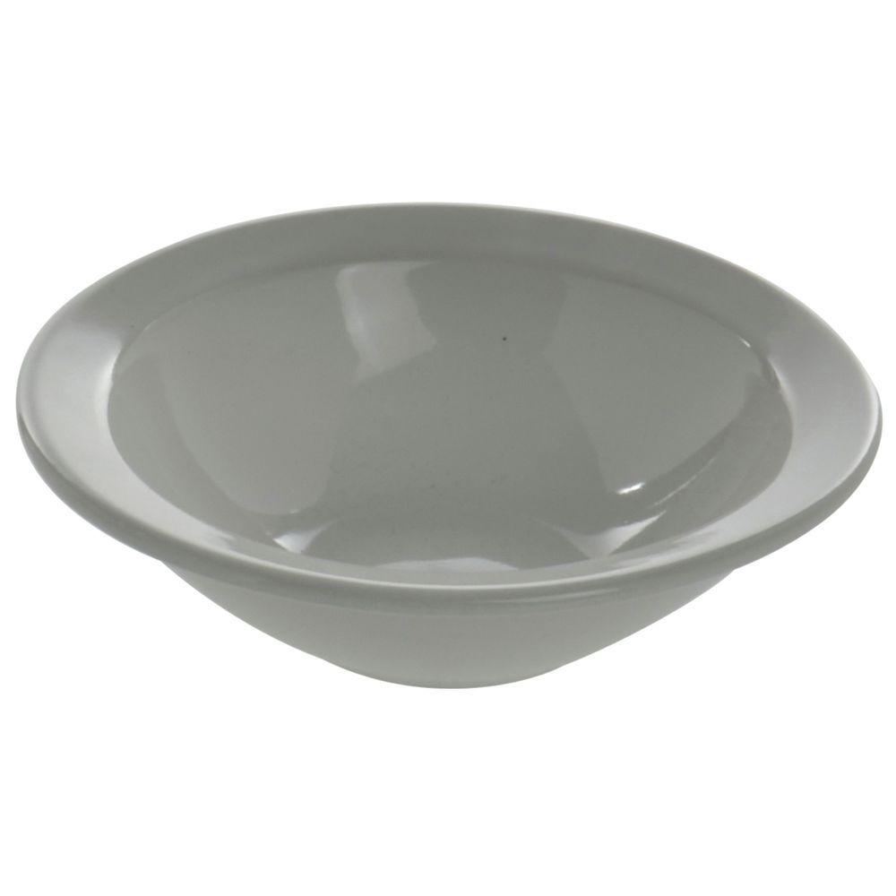 Hubert Rolled-Edge Grapefruit Bowl 10 Oz Bright White Stoneware Dishes