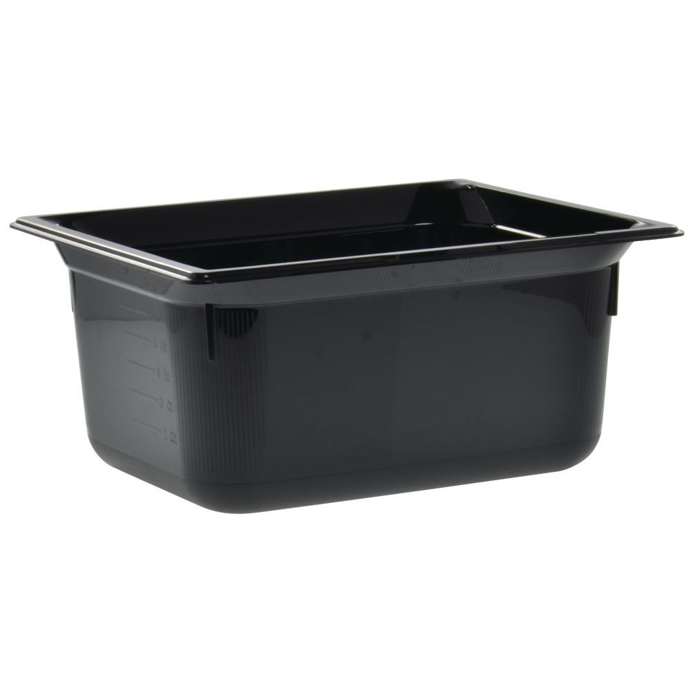 "Vollrath Super Pan Black Plastic Catering Pan High Temp 1/2 Size 6""D"