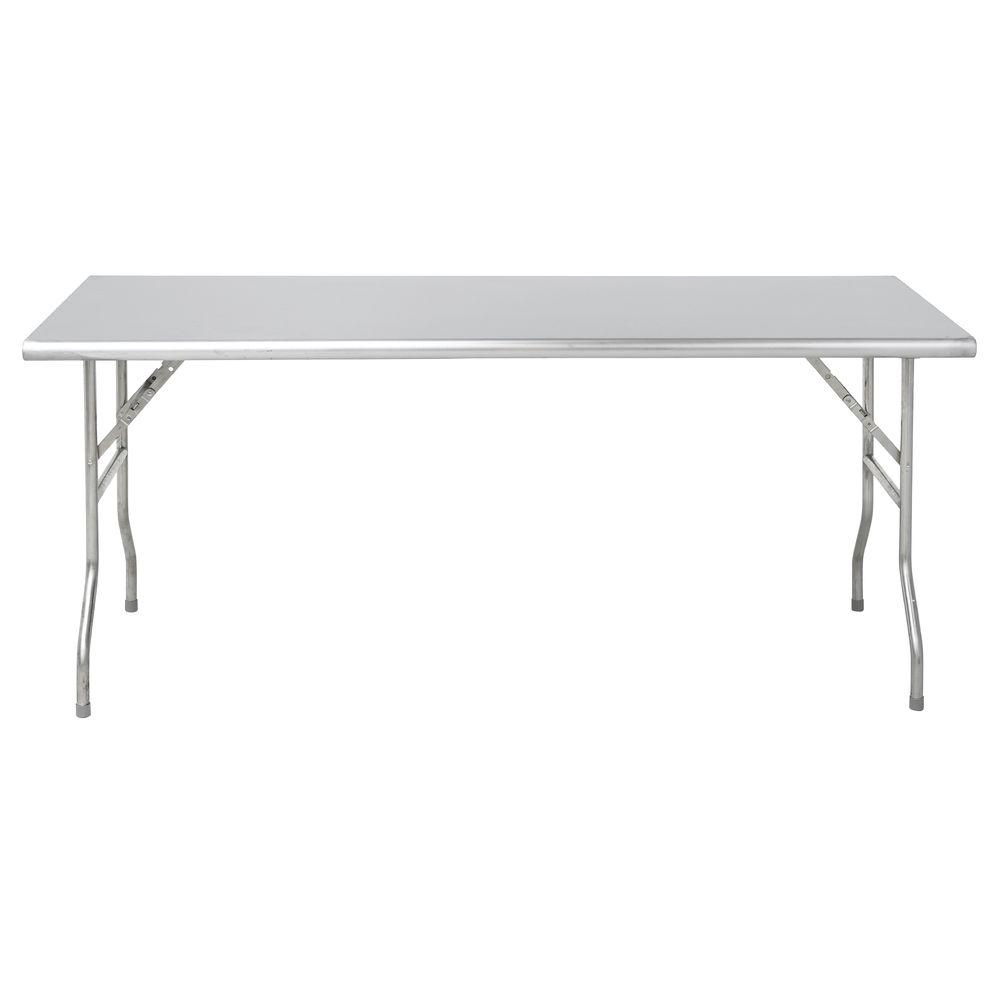 TABLE, S/S, FOLDING, 72X30X30 5/8