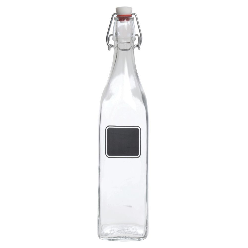 BOTTLE, SWINGTOP, 17 OZ.W/CHALKBOARD LABEL