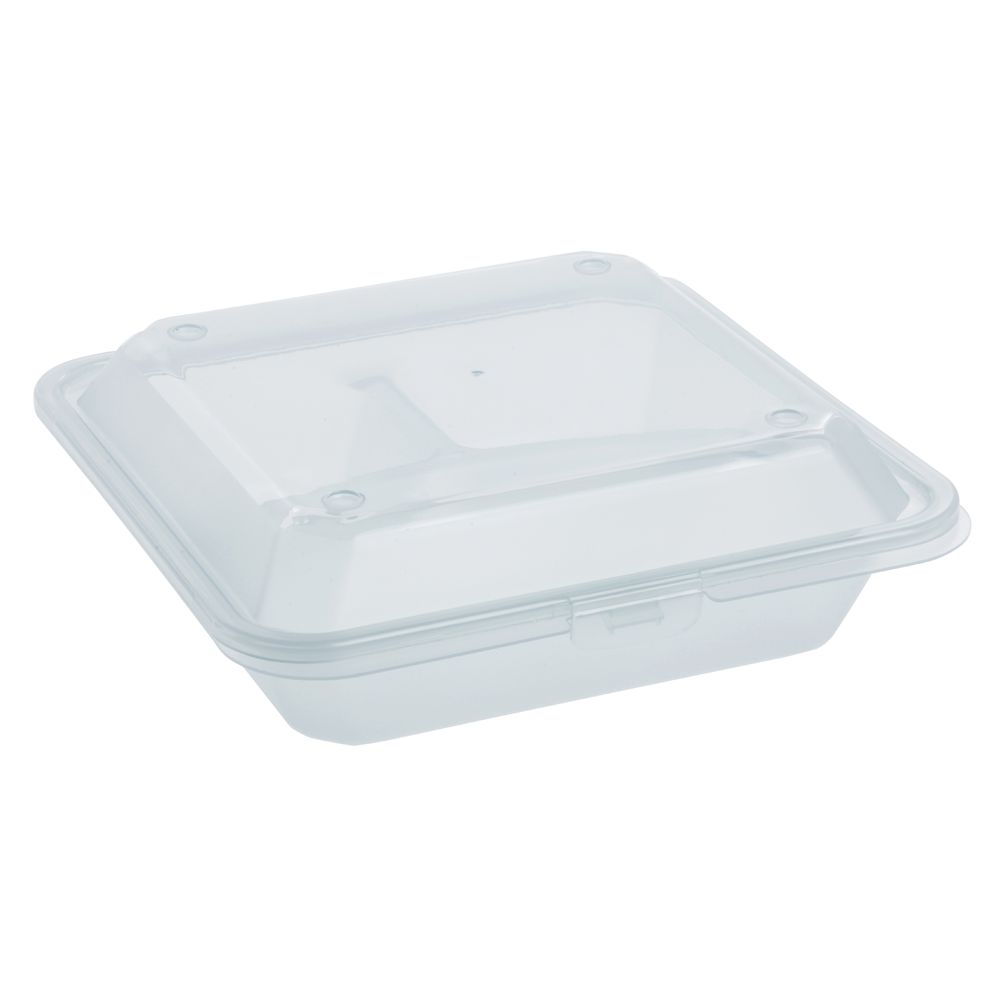 REUSABLE TAKE-OUT BOX, 3 COMP, POLYPROP