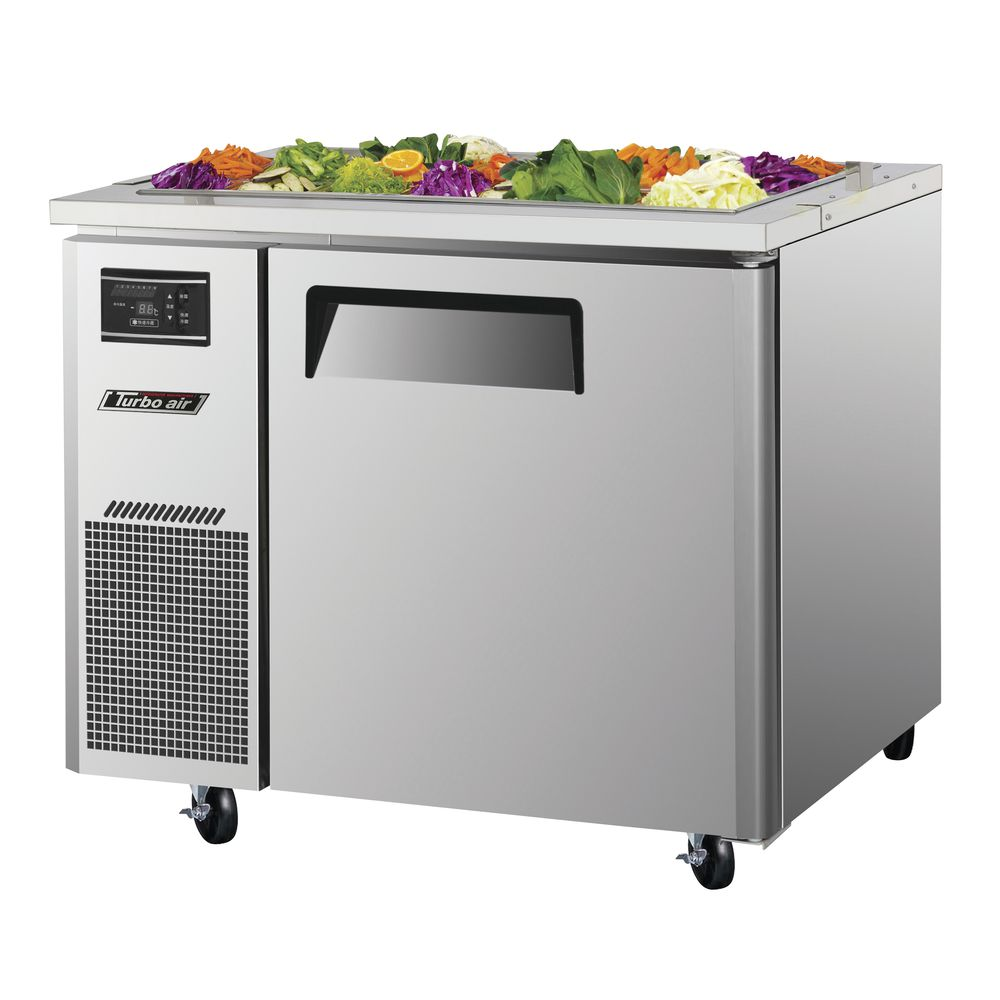 Turbo Air 7 5 Cu Ft 1 Solid Door 6 Pan Refrigerated Buffet Table 35 3