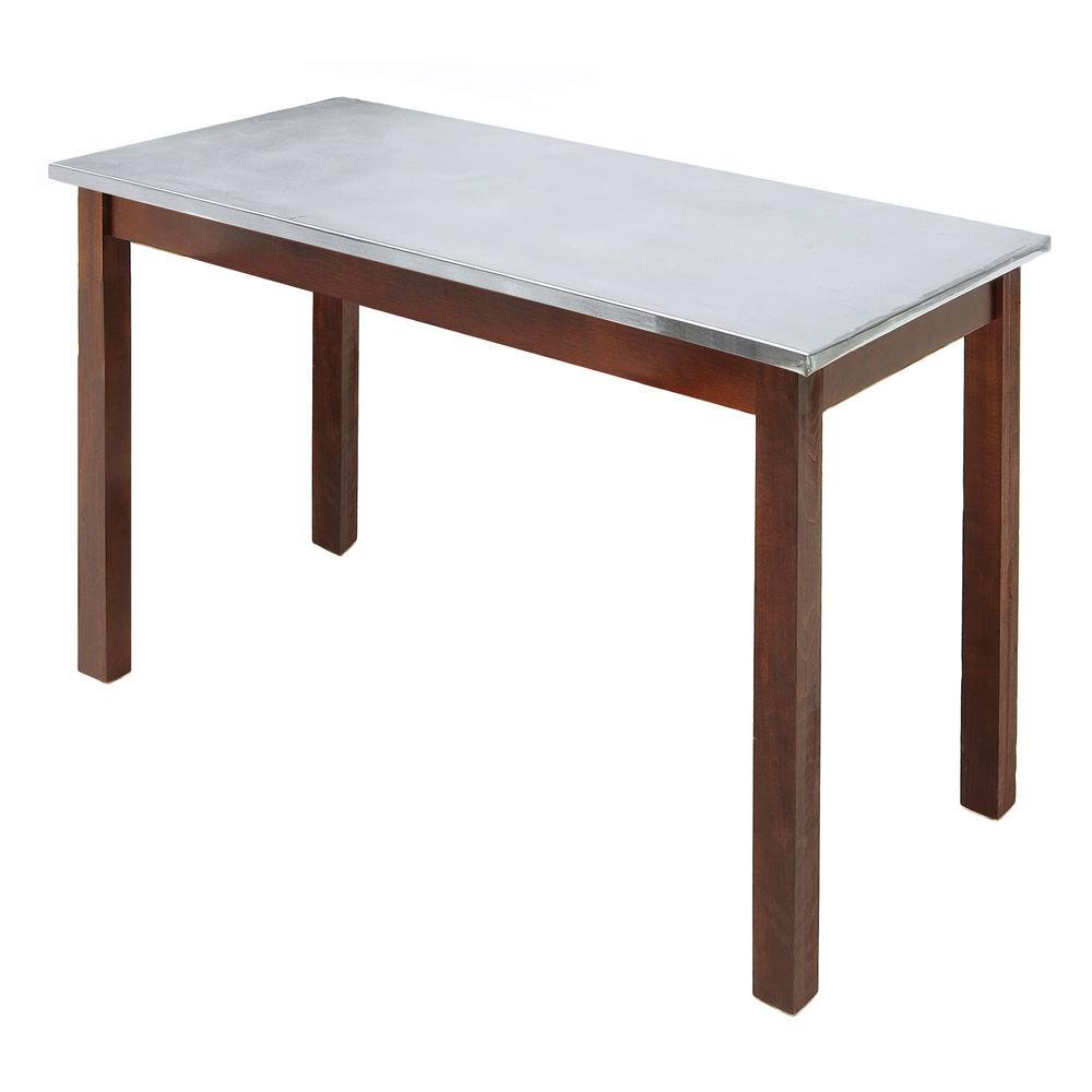 TABLE, GALV.TOP, MAHOGANY, 40LX30WX32H