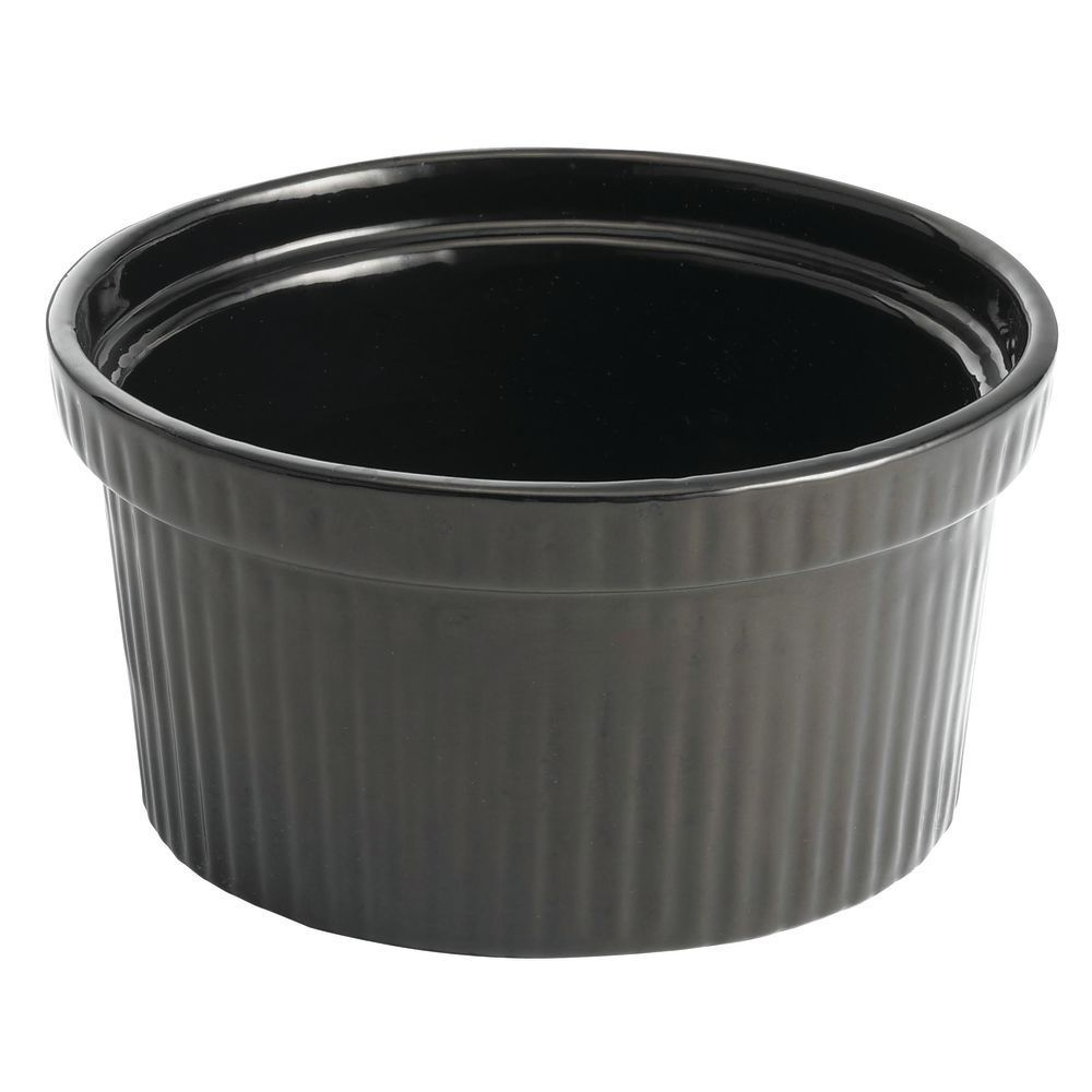 Tablecraft® Ribbed Black Metal Bowl Coated Aluminum 1 Qt 4 Oz