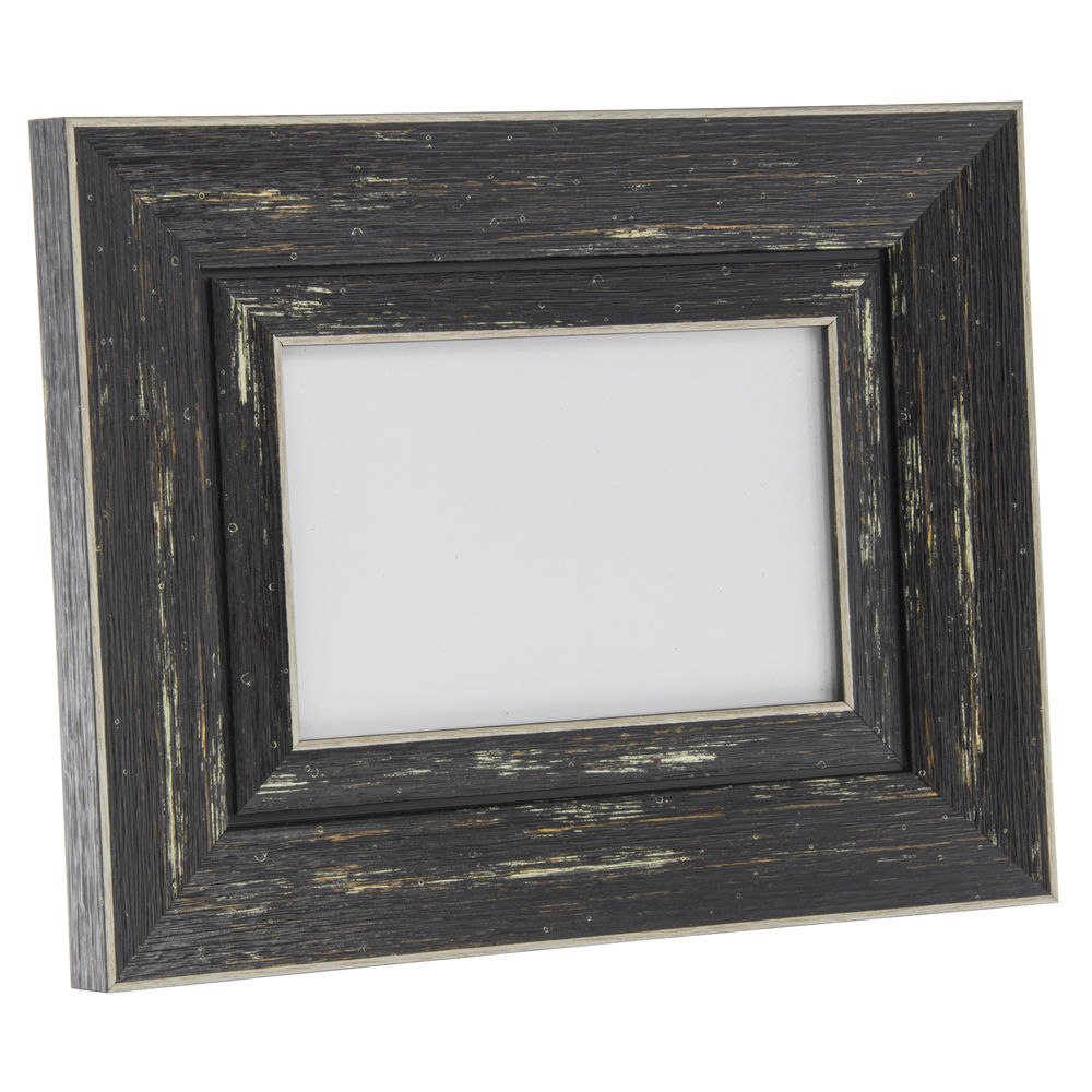 Weathered Black Plastic Rustic Sign Frame - 9 1/2L x 1W x 8 1/2H
