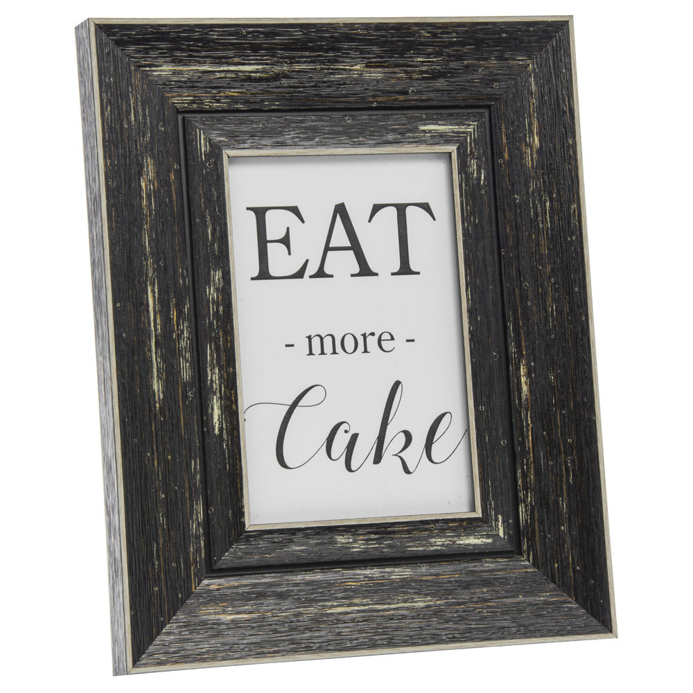 Weathered Black Plastic Rustic Sign Frame 9 12l X 1w X 8 12h