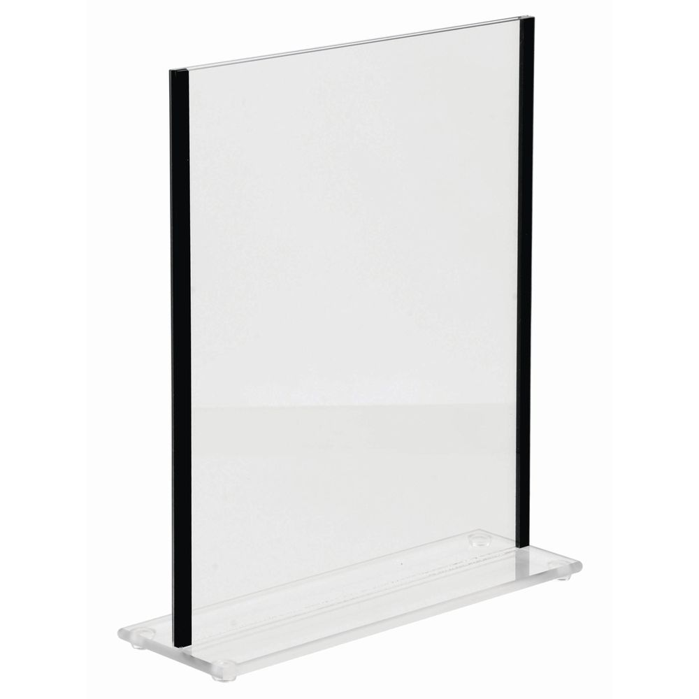 """Acrylic Sign Holders With Black Trim Sides For 11""""H x 8 1/2""""W Inserts"""
