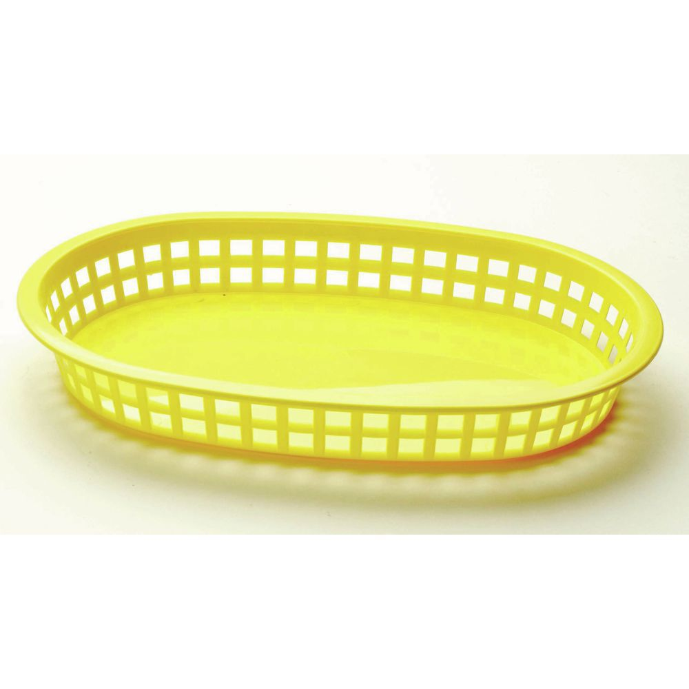 BASKET, YELLOW PLASTIC 10-1/2X7X1-1/2