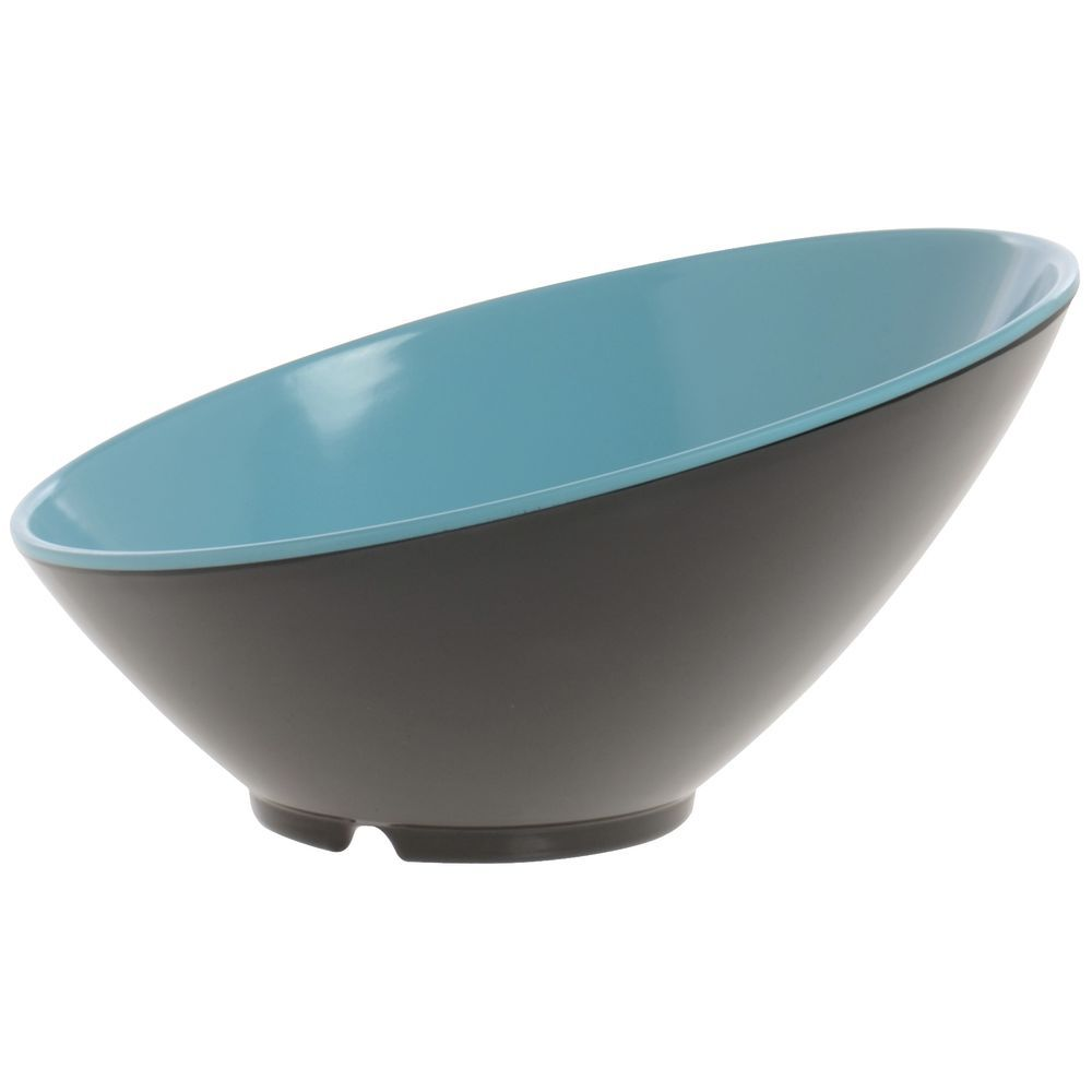 "BOWL, CASCADING, BLUE/BLACK, 9.25"", 24 OZ"