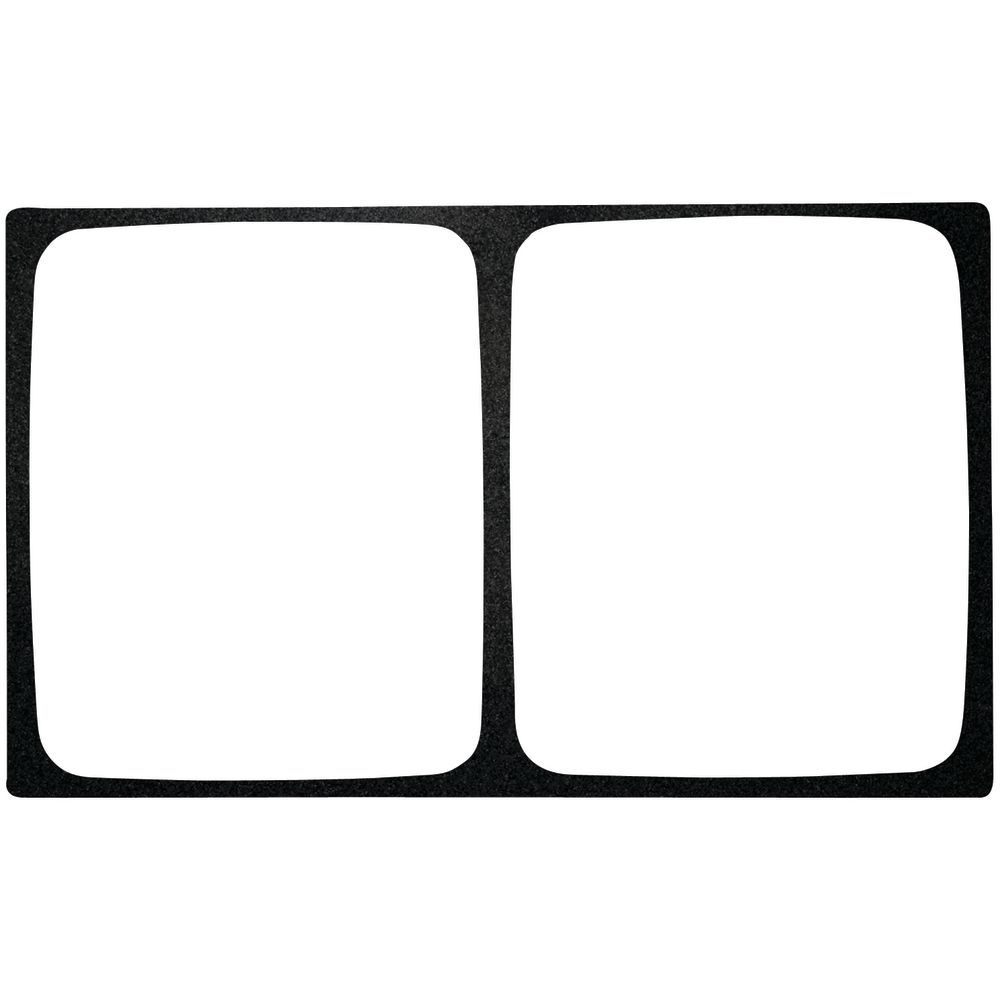 TILE, MELAMIN, FOR 2 HLF SZ PANS, BLACK