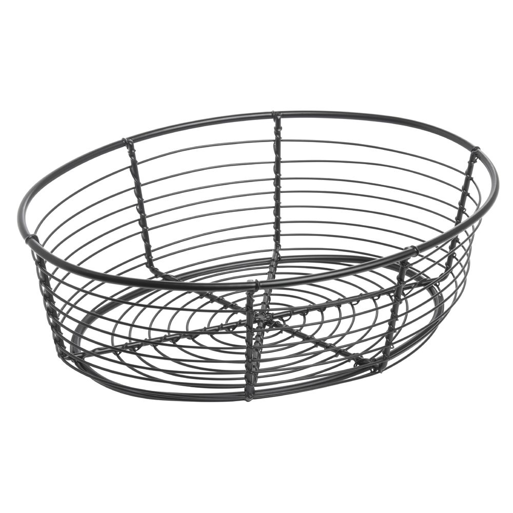 Oval Black Wire Serving Basket - 9 1/4\