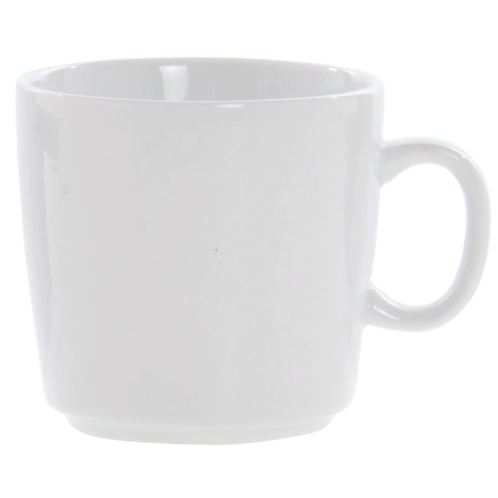 Front Of The House Mod Cup 7 Oz  Bright White Porcelain Dishes