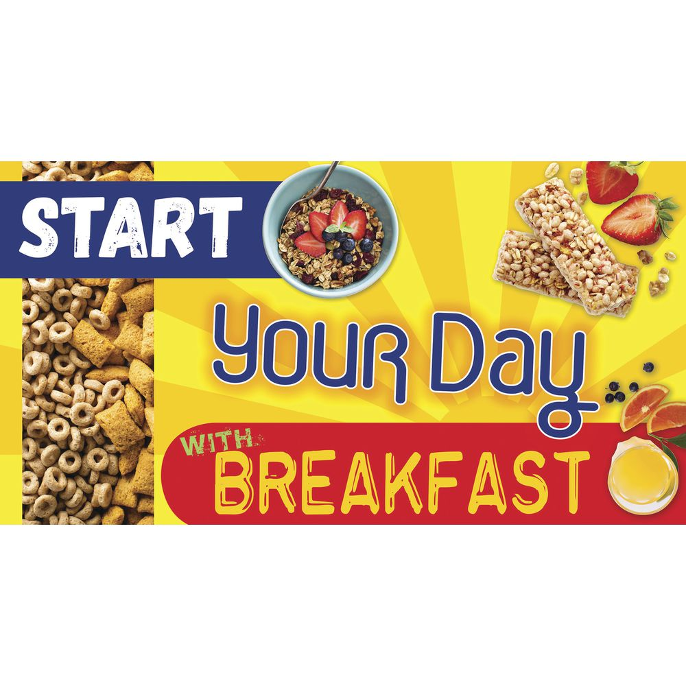 """SIGN, MAGNETIC, START YOUR DAY, YLW, 49X26"""""""