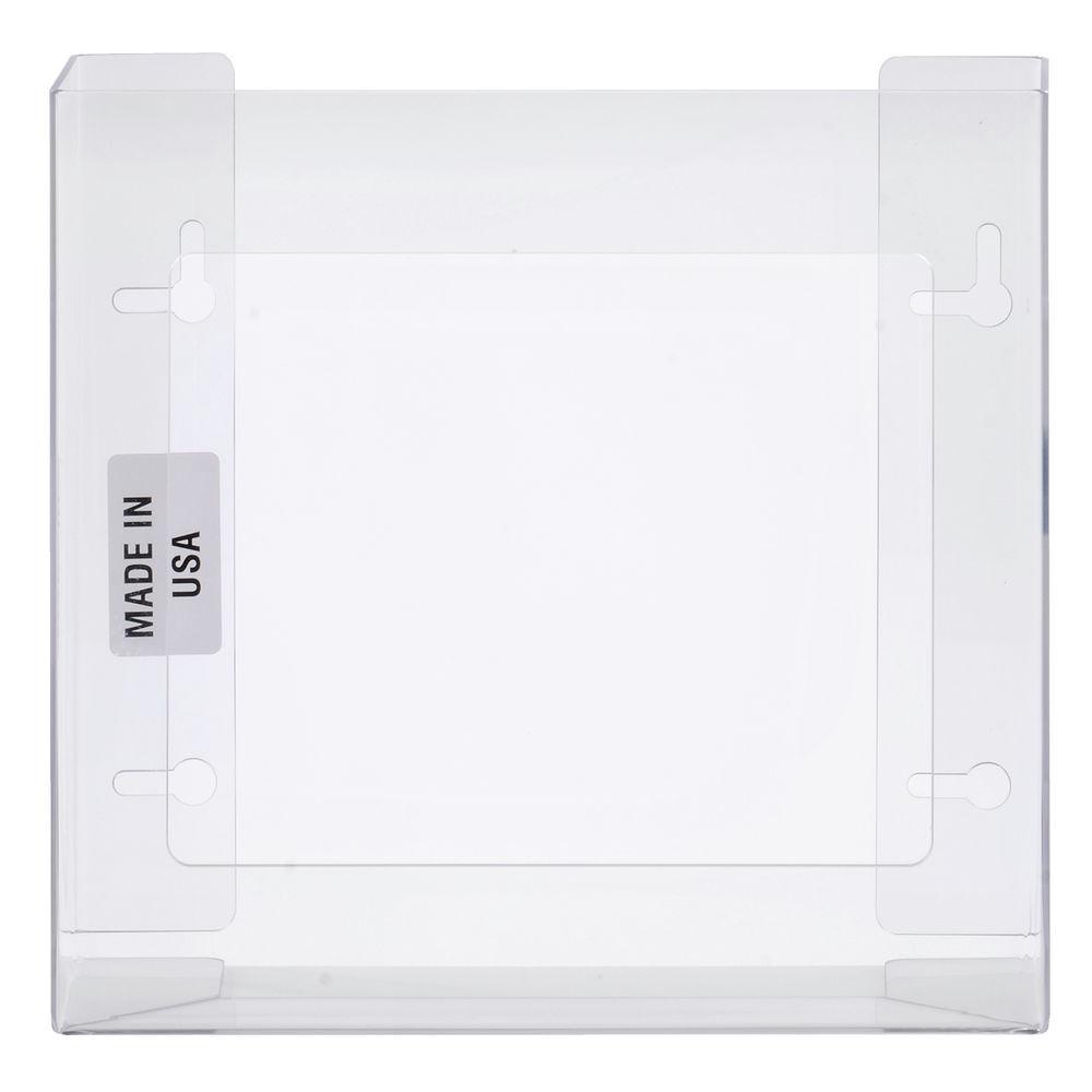 DISPENSER, GLOVE, 2-BOX, CLEAR PLEXIGLAS